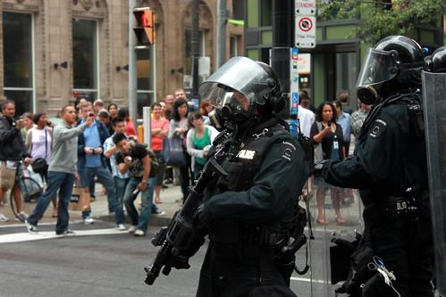 G8 / G20 Toronto 2010 Riot Police on Yonge St.