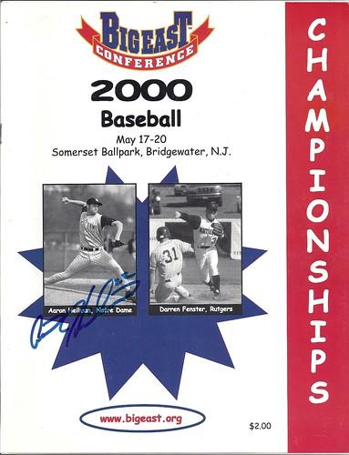 2000 Big East Baseball Championships program