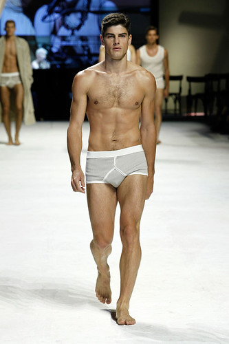 Dolce & Gabbana Man Fashion Show shirtless male model