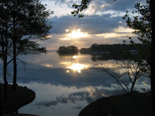 Lake Martin spring sunrise