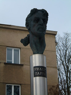 Bust Of Frank Zappa in Vilnius, Lithuania
