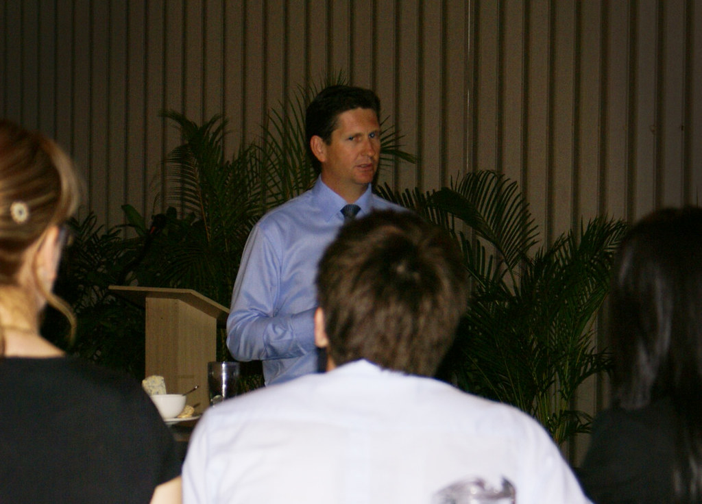 Shadow Attorney-General Lawrence Springborg addressing Tow