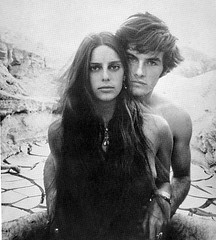 Daria Halprin and Mark Frechette, on set of Zabriskie Point, by Bruce Davidson 1969