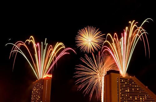 Fireworks show over Sparks, NV