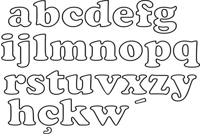 Moldes de letras minusculas - Imagui