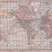 Hammond Cylindrical Projection World Map 1905