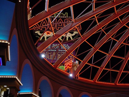 Sahara Casino ~ Las Vegas at Night by Vasenka