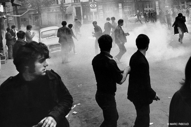 Paris 1968, violence, by Marc Riboud
