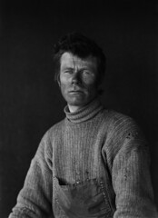 Portrait of Dimitri, Scott Expedition, Antarctica by Herbert George Ponting 1911