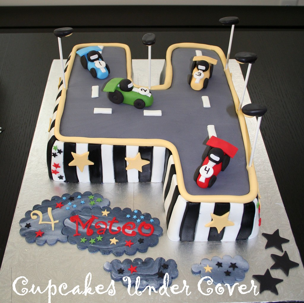 Car Theme Inspired Birthday Cake
