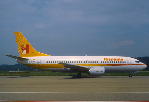 Hispania Boeing 737-300; EC-EHZ, June 1988/ ADU