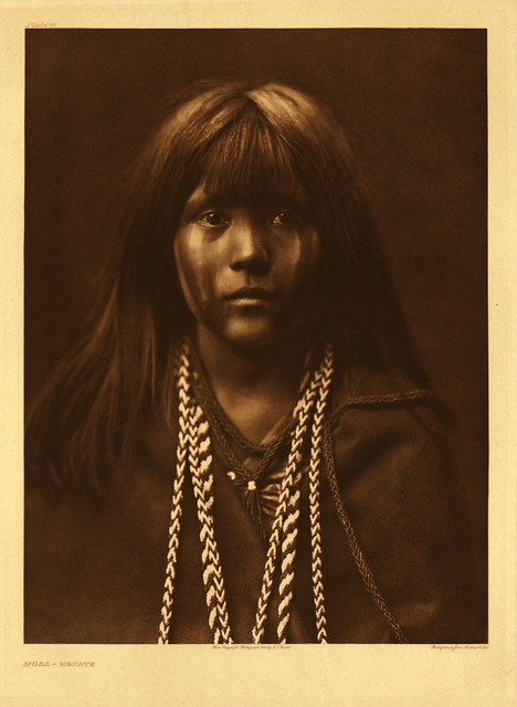 Mosa, Mohave, by Edward S. Curtis