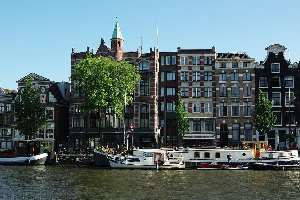 Eden Hotel over the river Amstel