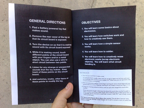 A Rough Introduction to Circuit Bending (Garnet Hertz, 2010) - General Directions and Objectives