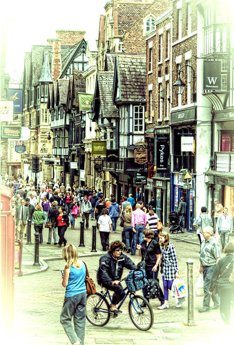 city england people urban shopping nikon cheshire slide chester elements eastgatestreet nikond60