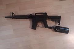 assault rifle, trigger, weapon, shooting sport, sports, rifle, firearm, gun, gun barrel,