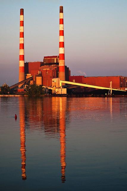 Trenton Channel Power Plant Sunrise Reflection Flickr