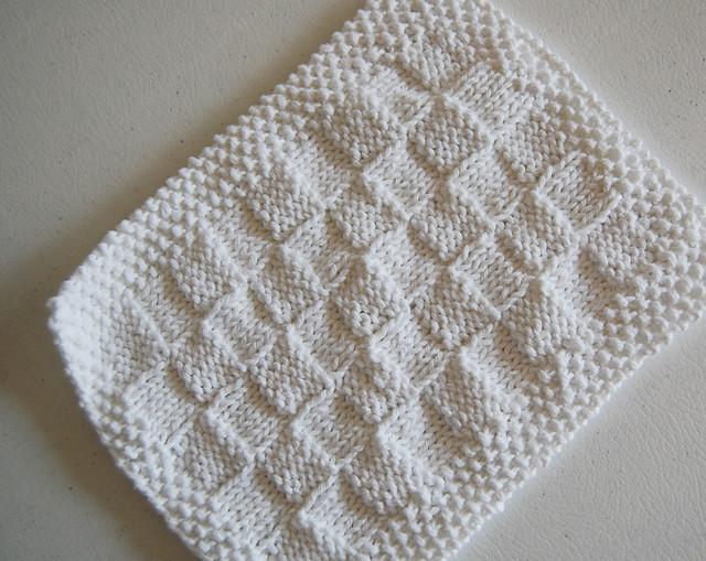 Knitting Pattern Basket Weave Dishcloth : basketweave dishcloth Flickr - Photo Sharing!