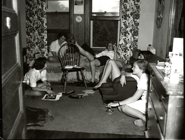 1956 Students Lounging