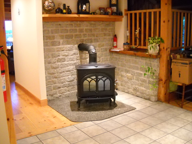 brick vs stone fireplaces