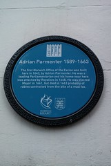 Photo of Adrian Parmenter blue plaque