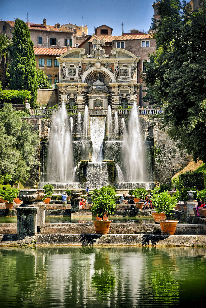 All Sizes Iv The Organ Fountains From The Fishponds At Villa D 39 Este Tivoli Italy Flickr