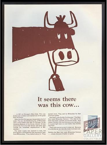 Schlitz-1964-cow
