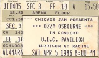 Ozzy / Metallica 1986
