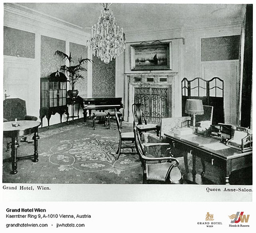 Historic Photo - Queen Anne Salon at Grand Hotel Wien in Vienna