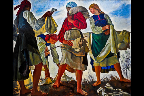 Bleaching the Cloth (Zinaida Serebryakova)