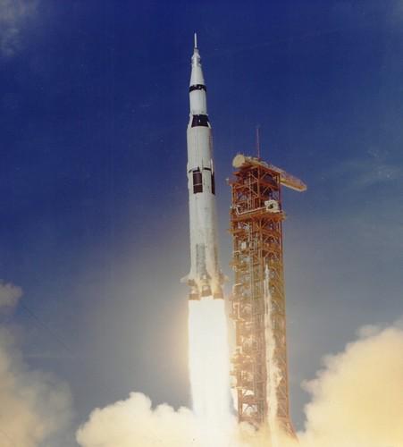 Apollo 11 Launched Via Saturn V Rocket