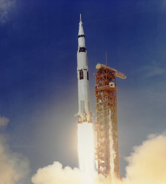 Apollo 11 Launched Via Saturn V Rocket | Flickr - Photo ...