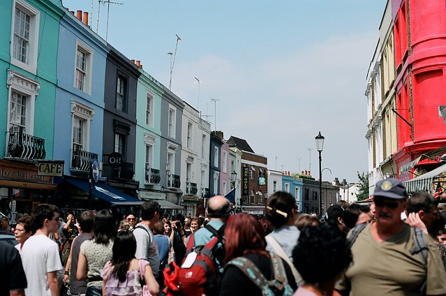 portobello market, packed