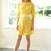 Adorable 1960s Yellow Striped Romper