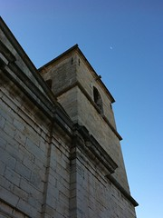 Morning Moon over the church