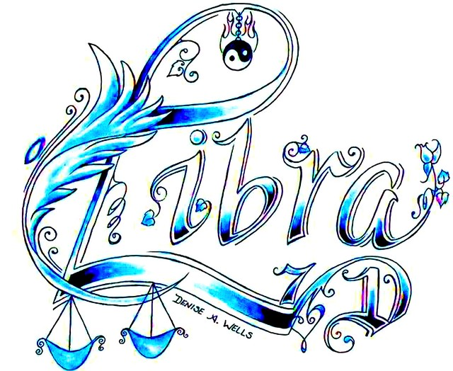 Libra Tattoo Design by Denise A Wells September 23 October 23