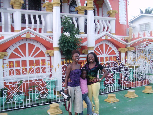 Damali, Deonna, Diana at Annandale Castle in Guyana