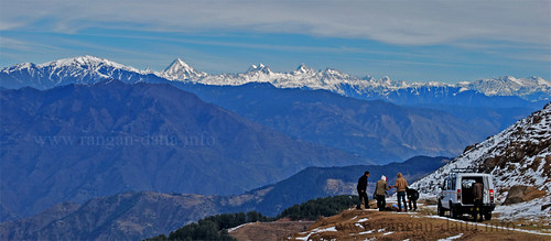 Snow Peaks from Nathatop, Patnitop, J&K