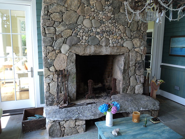 New England Fieldstone Outdoor Fireplace Flickr Photo Sharing