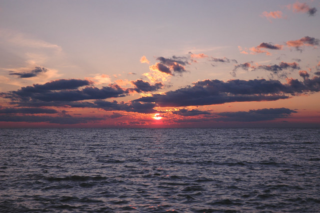Sunset over Lake Winnipeg