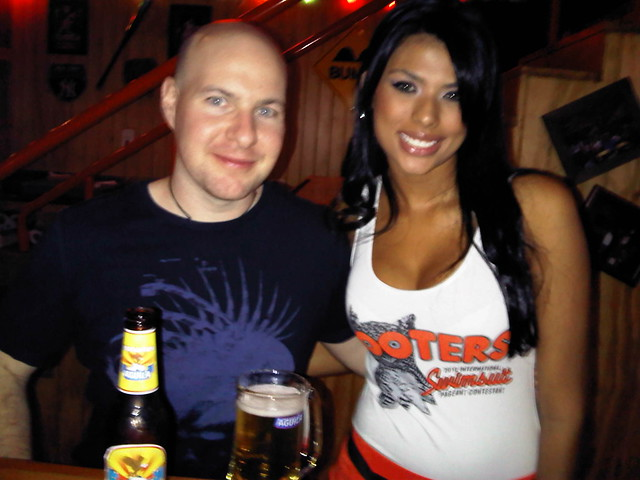 Me and a Hooters girl (July 2010)