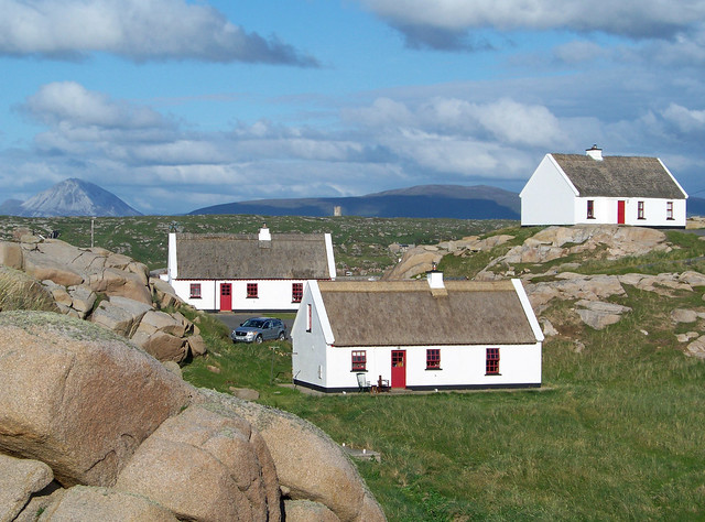 donegal thatched cottages flickr photo