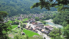 Riverside village, Hida Shirakawa-go