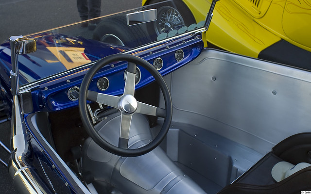 1925 ford model t track roadster kit car dk blu met interior flickr photo sharing