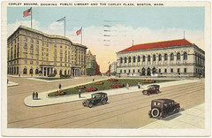 Copley Square, Showing Public Library and the Copley Plaza, Boston, Mass. [front]