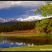 Pond at Aspen Lodge Ranch Resort with view of Longs Peak by Micha67