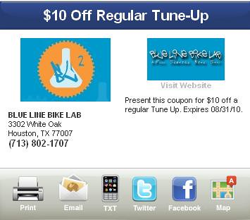 Houston Bike Club Discount Coupons