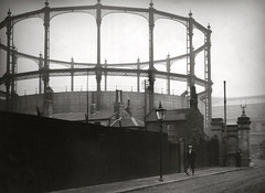 Modern Gasometer, London, 1929, by E.O. Hoppe