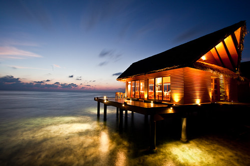 restaurant on the ocean