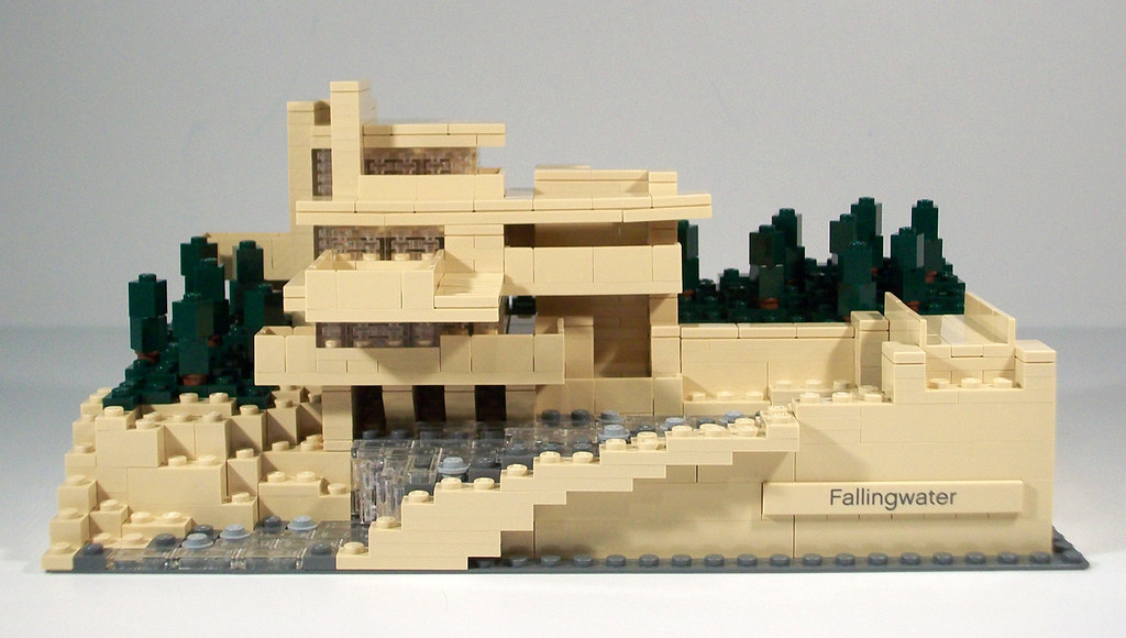 Lego architecture 21005 fallingwater review finished model front elevation a photo on - Lego falling waters ...